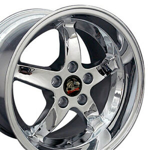 17x10 5 17x9 Rims Fit Mustang Cobra R Dd Style Chrome Wheel Set