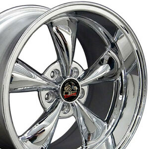 18x10 18x9 Wheels Fit Ford Mustang Bullitt Chrome Rims W1x Set