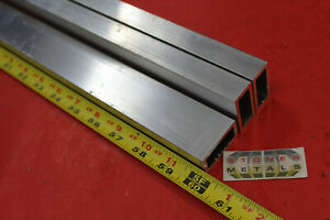 3 Pieces 3 4 x 1 1 2 x 1 8 Wall Aluminum Rectangle Tube 60 Long 6063 T52