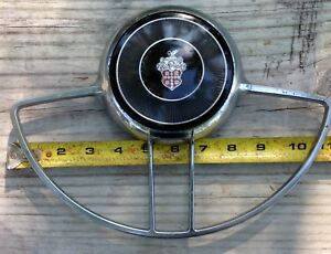 Vintage 1948 1954 Packard Steering Wheel Chrome Horn Ring And Horn Button