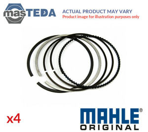 4x Engine Piston Ring Set Mahle 021 62 N0 G New Oe Replacement