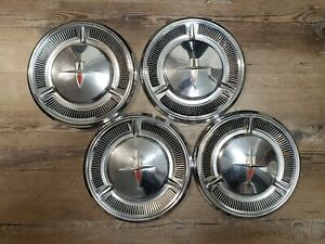 1959 1960 Oldsmobile Dynamic 88 Dog Dish Wheel Hub Caps 10 1 2 Set Of 4 Gm Oem