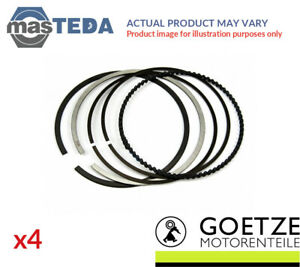 4x Engine Piston Ring Set Goetze Engine 08 439300 00 I Std New Oe Replacement