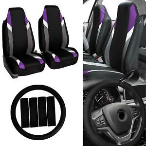 Highback Car Seat Covers Bucket Seats For Auto W Accessories Purple Black