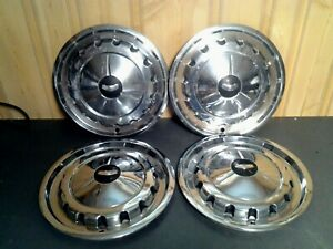 Vintage 1957 Chevy Bel Air 210 Hubcaps Wheel Covers 14 Classic H23