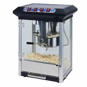 Winco Pop 8b Show Time 8oz Black Electric Popcorn Popper
