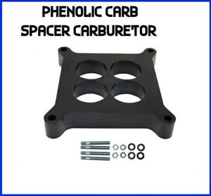 1in 4 Port Hole Phenolic Carb Carburetor Spacer 4bbl Fits Edelbrock Holley Chevy