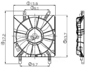 Engine Cooling Fan Assembly Fits 2002 2006 Acura Rsx Global Parts