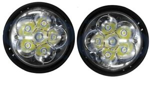 Freightliner Columbia 05 10 Pair Led Fog Light White New Style Very Bright