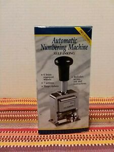 Pro Stamp Automatic Numbering Stamp Machine With Ink And Stylus
