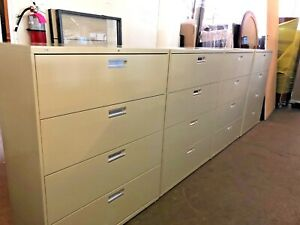 4 Drawer Lateral Size File Cabinet By Hon Office Furn Model 694l 42 w