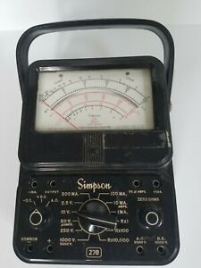 Working Simpson 270 Series 3 Analog Voltmeter