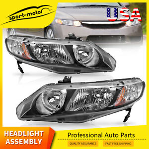 Headlights Assembly Replacement For 2006 2011 Honda Civic Sedan Left Right