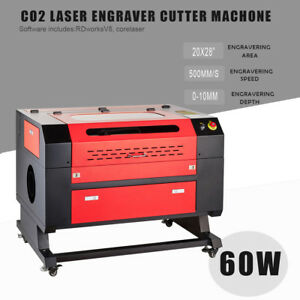 700x500mm 60w Co2 Laser Engraving Machine Laser Engraver Cutter W usb Interface