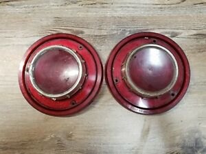 1956 56 Ford Taillight Lenses Fairlane Customline T Bird Convertible Oem Fomoco