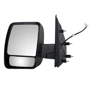 Driver Side View Power Textured Mirror For 12 18 Nissan Nv1500 Nv2500hd Nv3500hd