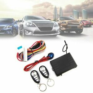 Car Alarm Start Security Keyless Entry System Push Button Remote Control Start18