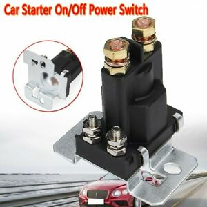 4 Pin 12v Amp 500a Relay Car Starter On Off Power Switch Dual Battery U8