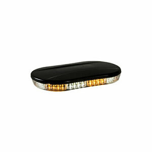 New Buyers 8891082 Oval Amber Clear Led Mini Light Bar 12 24v Very Bright