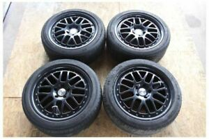 2005 2014 Ford Mustang Black Tsw 18x8 Inch Rims Wheels Michelin Tires