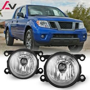 For Nissan Frontier 05 19 Clear Lens Pair Bumper Fog Light Lamp Oe Replacement