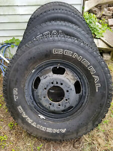 General Ameritrac Tires Rims And Hubs For A Dodge Ram 3500