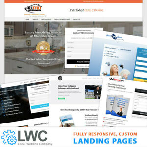 Custom Professional Responsive Wordpress Landing Page Design And Installation