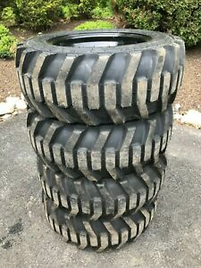 4 27x10 50 15 Galaxy Xd2010 8 Ply Skid Steer Tires wheels rims for Bobcat