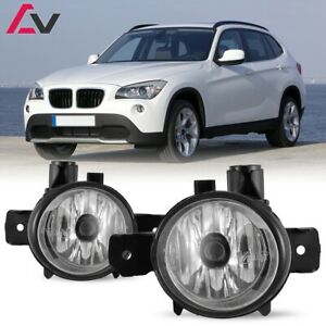 For Bmw E84 X1 11 14 Clear Lens Pair Bumper Fog Light Lamp Oe Replacement Bulb