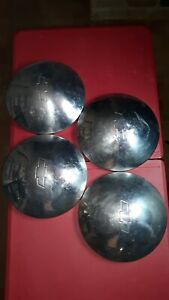 4 Original 1970 1979 Chevy Camaro Chevelle Nova Baby Moon Dog Dish Hub Caps Gm 1