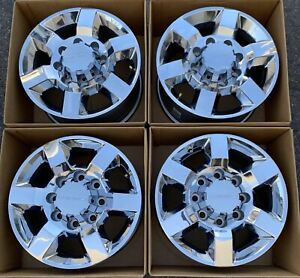 18 Gmc Chevy 2500 3500 Hd Oem Factory Wheels Rims Chrome Denali Caps 22910737