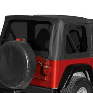 For Jeep Wrangler 2007 2009 Crown Rt10535t Black Diamond Replacement Soft Top