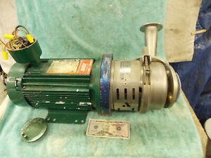 Apv Fluid Handling Horsens Stainless Centrifugal Pump Type W 22 20 Reliance 3 Hp