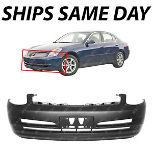 New Primered Front Bumper Cover Replacement For 2003 2004 Infiniti G35 Sedan