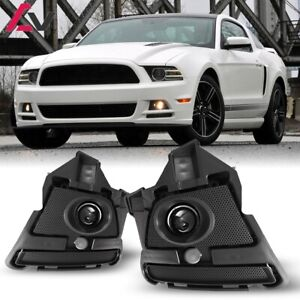 For Ford Mustang 13 14 Clear Lens Pair Fog Light Lamp Wiring Switch Kit