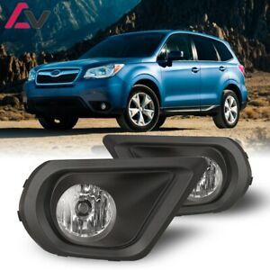 For Subaru Forester 14 16 Clear Lens Pair Oe Fog Light Lamp Wiring Switch Kit