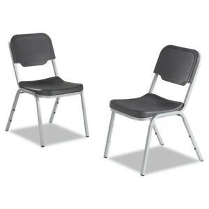 Iceberg 64117 Rough N Ready Series Stackable Chair charcoal silver New