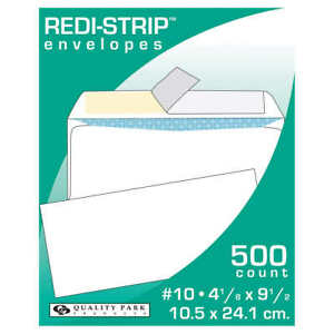 Top Flight No 10 Security Strip And Seal Envelopes 4 1 X 9 5 500 Count