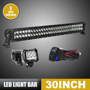 Curved 30 inch Led Work Light Bar Front Offroad For Jeeps 4x4 trucks Hummer