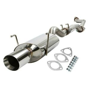 For Acura Rsx 02 06 Stainless Steel Cat back Exhaust System W Single Rear Exit