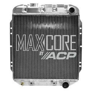 For Ford Mustang 1965 1966 Acp Fm er301 Maxcore Aluminum Engine Coolant Radiator
