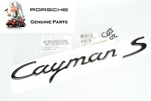 Genuine Porsche Cayman S Trunk Script Emblem 987 Black 98755998301041