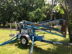 2004 Genie Tz 34 20 Tow Behind Articulated Electric Boom Manlift