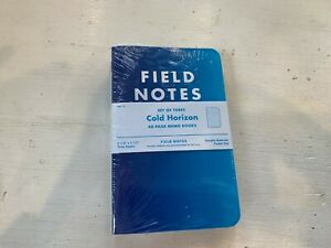 Field Notes cold Horizon Limited Edition winter 2013 Sealed Notebooks 3 pack