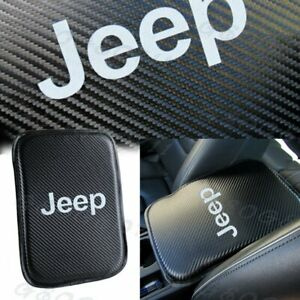 For Jeep Carbon Fiber Car Center Console Armrest Cushion Mat Pad Cover
