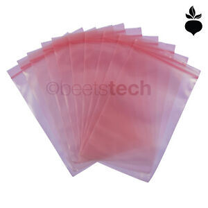 Esd Static Bags 4mil Pink Poly Zip lock Top Reclosable 2x 3 5 6 8 9 12