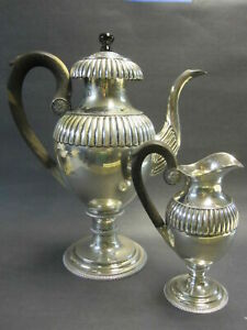 Clean 53 5 Oz Berlin 2 Pc Ca 1812 Sterling Silver Coffee Tea Pot Creamer Set