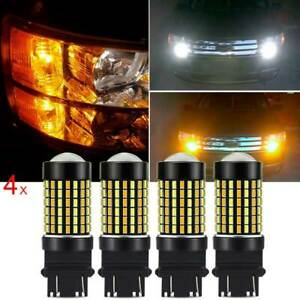 4x Switchback 120smd 3157 3757 4157na Led White Amber Signal Parking Led Bulb Ec