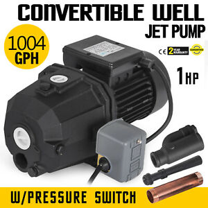 1 Hp Shallow Or Deep Well Jet Pump W Pressure Switch Residential 50 M Ip44