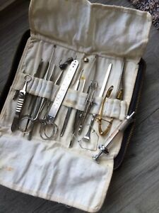 Antique Vintage Surgical Instruments Ophthalmology In Case Weiss Mixtec Walker